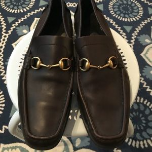 Gucci brown leather loafers